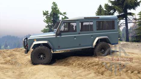 Land Rover Defender 110 blue metalic для Spin Tires