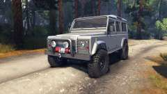 Land Rover Defender 110 silver