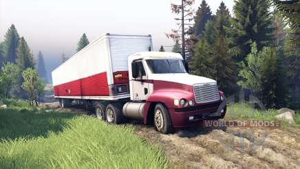 Freightliner Century Class Day Cab для Spin Tires