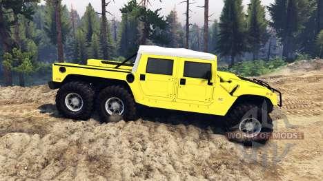 Hummer H1 6x6 Raptor для Spin Tires