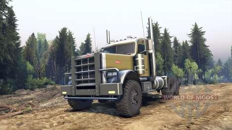 Peterbilt 379 green для Spin Tires