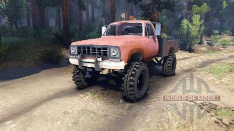 Dodge Power Wagon B-17 Rocks для Spin Tires