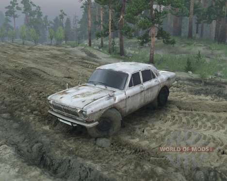 ГАЗ 24 для Spin Tires