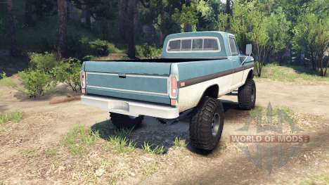 Ford F-200 1968 blue and white для Spin Tires