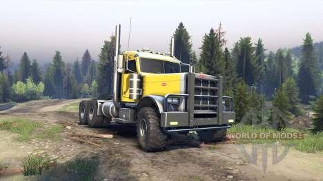 Peterbilt 379 yellow для Spin Tires