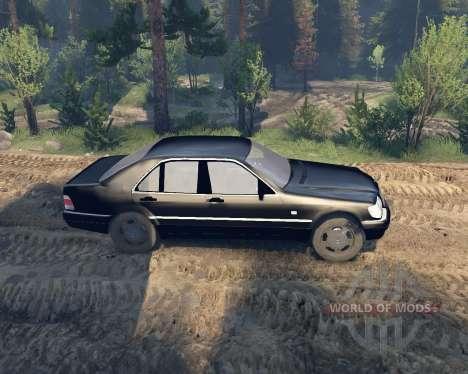 Mercedes W140 для Spin Tires