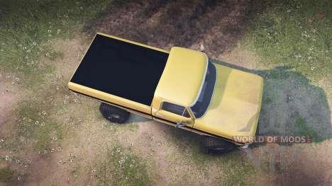 Ford F-200 1968 saddle tan для Spin Tires
