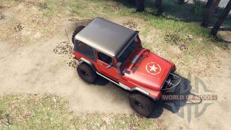 Jeep YJ 1987 orange для Spin Tires