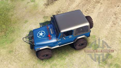 Jeep YJ 1987 blue для Spin Tires