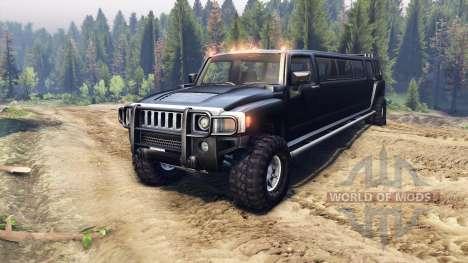 Hummer H3 Limousine для Spin Tires