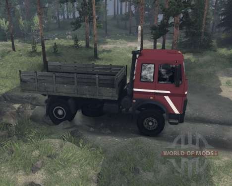 МАЗ 54322 для Spin Tires