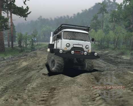 УАЗ 6х6 для Spin Tires
