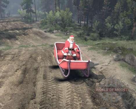 Санта на санях для Spin Tires