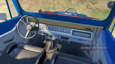 Jeep YJ 1987 blue для Spin Tires