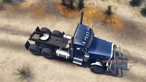 Peterbilt 379 dark blue для Spin Tires