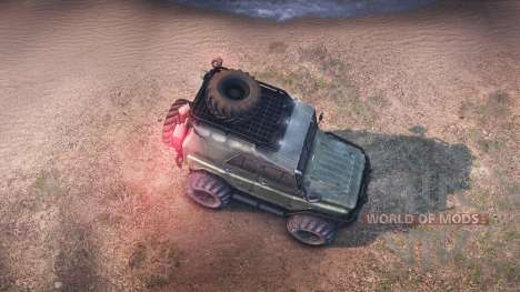 УАЗ-469 Турбо для Spin Tires