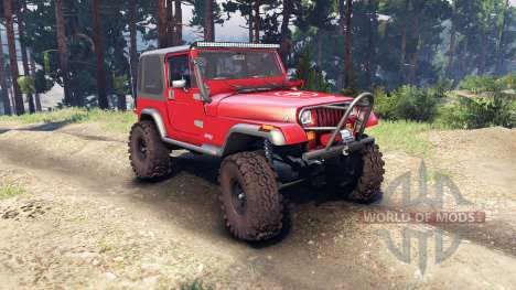 Jeep YJ 1987 red для Spin Tires