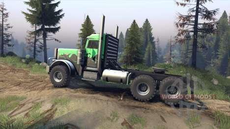 Peterbilt 379 v1.1 green and black для Spin Tires