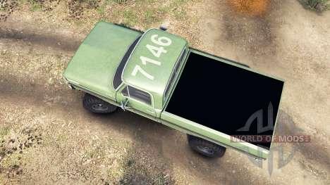 Ford F-200 1968 forest ranger для Spin Tires
