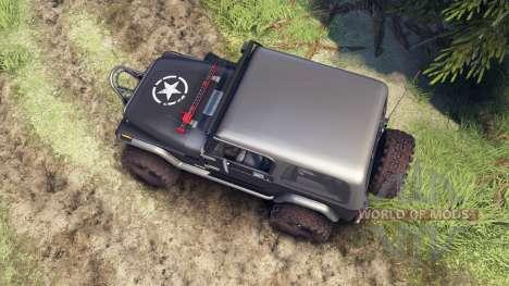 Jeep YJ 1987 gray для Spin Tires