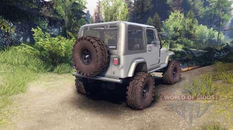 Jeep YJ 1987 silver для Spin Tires