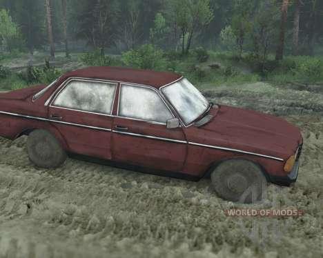 Mercedes W123D для Spin Tires