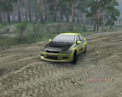 Mitsubishi Evolution для Spin Tires