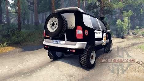 ВАЗ-21236 Chevrolet Niva black для Spin Tires