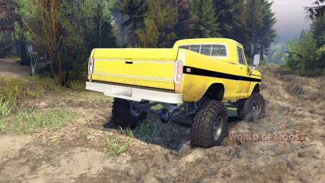Ford F-200 1968 yellow для Spin Tires