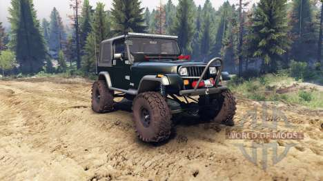 Jeep YJ 1987 dark green для Spin Tires