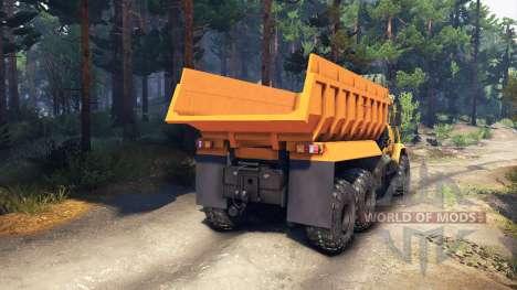 КрАЗ-6322 v3.0 yellow для Spin Tires