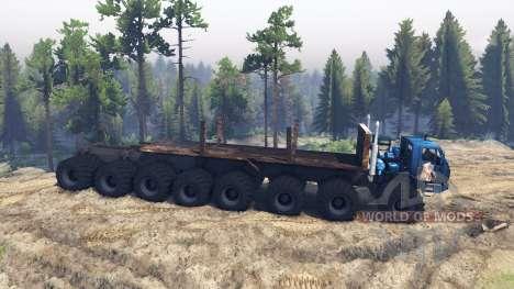 КрАЗ 7Э 6316 Trans-Siberia v1.1 для Spin Tires