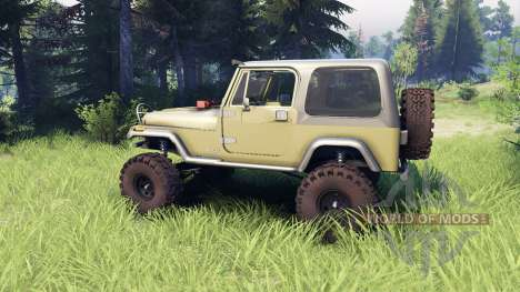 Jeep YJ 1987 green для Spin Tires