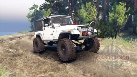 Jeep YJ 1987 white для Spin Tires