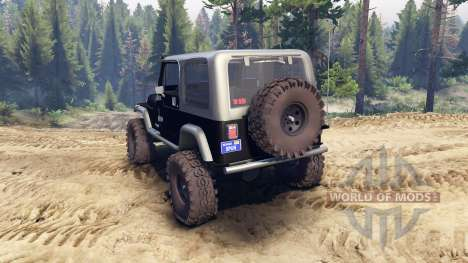 Jeep YJ 1987 black для Spin Tires