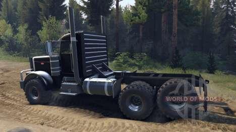 Peterbilt 379 v1.1 black для Spin Tires