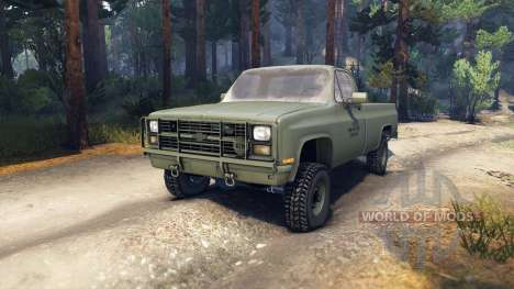 Chevrolet Eclipse CUCV M1008 для Spin Tires