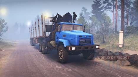 КрАЗ-6322 v3.0 blue для Spin Tires