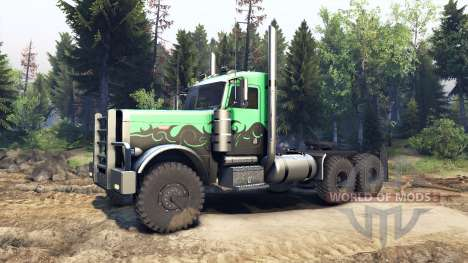 Peterbilt 379 green and black для Spin Tires