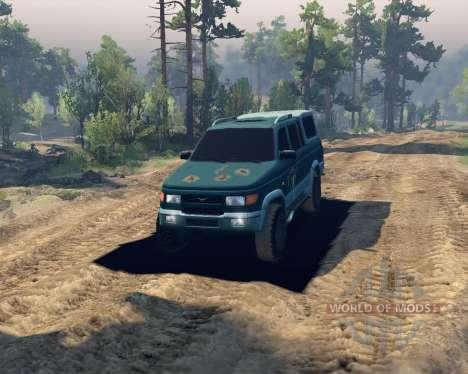 УАЗ 23632 для Spin Tires