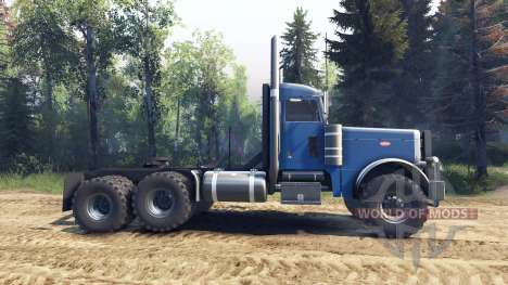 Peterbilt 379 light blue для Spin Tires