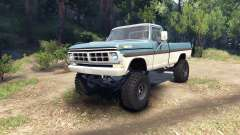 Ford F-200 1968 blue and white