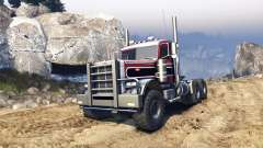Peterbilt 379 v1.1 red and black stripe