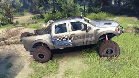 Ford Raptor Pre-Runner v1.1 monster для Spin Tires