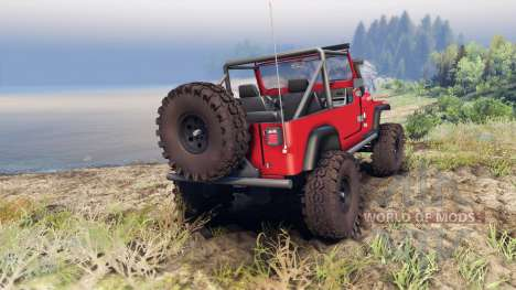 Jeep YJ 1987 Open Top red для Spin Tires