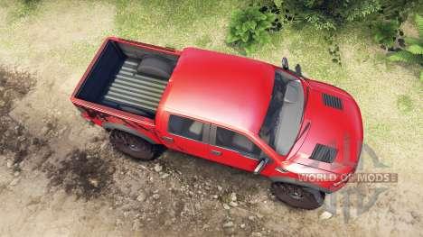 Ford Raptor SVT v1.2 factory sunset red для Spin Tires