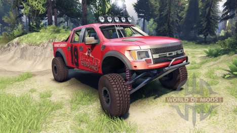 Ford Raptor Pre-Runner terrible herbst для Spin Tires