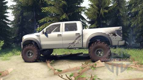 Ford Raptor SVT v1.2 factory ignot silver для Spin Tires