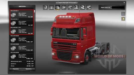 Двигатели для грузовиков DAF для Euro Truck Simulator 2