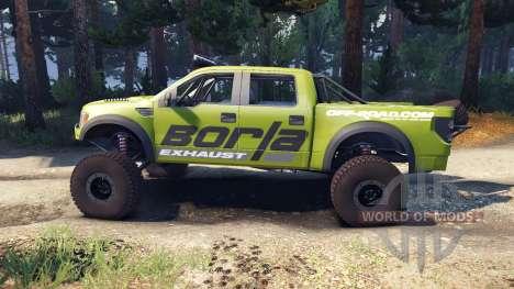 Ford Raptor Pre-Runner borla для Spin Tires